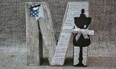 Transformar una letra de papel maché en vintage o envejecida / Les Parisinnes