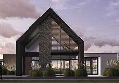 ideas design modern house architecture for 2019 Modern Barn House, Modern House Design, Villa, Contemporary Barn, Facade House, Mid Century House, Interior Design Kitchen, Interior Garden, Kitchen Designs