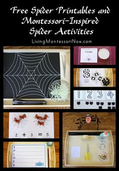 Free Spider Printables and Montessori-Inspired Spider Activities #SuliaMoms #preschool