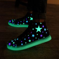 Fashion kawaii stars luminous canvas sneakers