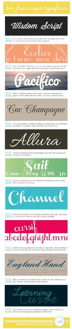 types of script fonts mixing in. looks like teacher script in a way. could be fun with a mix of different scripts. Typography Letters, Typography Design, Hand Lettering, Gratis Fonts, Font Love, Typographie Fonts, 100 Free Fonts, Script Typeface, Cursive Fonts