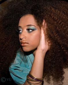 Natural Curls, and beautiful eye make-up