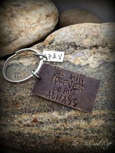 Items similar to You Will Forever Be My Always - Hand Stamped Valentine's Day Gifts - Personalized Gifts - Gifts for Men on Etsy Metal Jewelry, Jewlery, Unique Jewelry, Hand Stamped Jewelry, Hopeless Romantic, Metal Stamping, Craft Gifts, Personalized Jewelry, Destiny