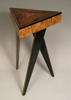 Burled Triangle Table by Daniel Grant and Ingela Noren   Sticks Furniture, Home Decorative Accents