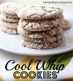 Easy {Low Fat} Cool Whip Cookies | Yummy Healthy Easy