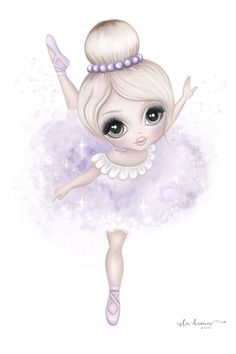 Bella The Ballerina Print Av pink/lilac Ballerina Art, Little Ballerina, Baby Art, Texture Art, Cute Drawings, Fine Art Paper, Art For Kids, Illustration, Lilac