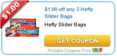 $1.00 off any 2 Hefty Slider Bags