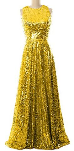 "MACloth Women A Line Sequin Long Bridesmaid Dress Evening Formal Party Gown (22w, Gold). Quality Made-To-Order Dresses. Please have your measurements taken first by a professional tailor or measure yourself by following the measure guide (see the product pictures). Find your proper size in our Size Chart, or provide us the following measurements in the Product Description for more fitted dresses and choose the closest size to you when making the order. You will receive an ""Additional…"