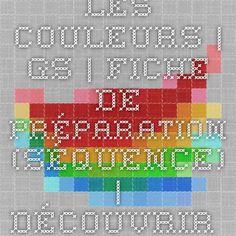 Les couleurs   GS   Fiche de préparation (séquence)   découvrir la matière :: Edumoov