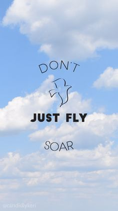 Don't just fly, soar