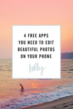 4 Free Apps You Need to Edit Beautiful Photos on Your Phone / photography tips / photo editing Photography Editing Apps, Free Photography, Iphone Photography, Learn Photography, Mobile Photography, Photography Photos, Creative Photography, Free Editing Apps, Good Photo Editing Apps