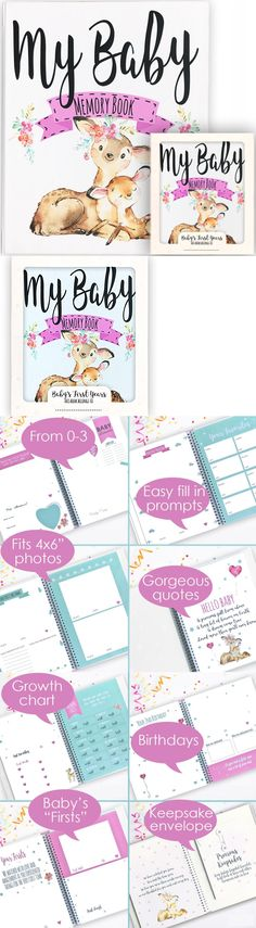 Keepsakes and Baby Announcements 117388: Baby Memory Book, Baby Journal, Baby Record Book 0-3 Years, Best New Baby Girl G -> BUY IT NOW ONLY: $42.53 on eBay!
