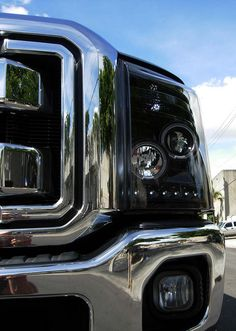 RECON Part # 264272BK  - SMOKED Projector Headlights Ford Superduty 2011 & 2012