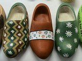 assorted wooden shoes