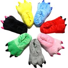 Special Life Unisex Plush Animal Cartoon Paw Slippers, Home Use or Costume Accessory * Check out this great product.
