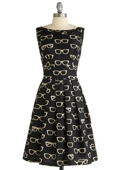 Glasses dress. ModCloth. $245.00. SO CUTE.