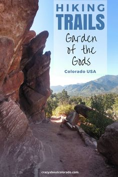 Incredible Hiking Trails within Garden of the Gods Colorado hiking Colorado Springs, Denver Colorado, Visit Colorado, Colorado Hiking, Estes Park Colorado, Hiking Tips, Camping And Hiking, Camping Gear, Hiking Usa