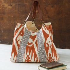 Boho Chic Hobo Bag, Persimmon