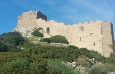 The Approach To The Castle - Kritinia Castle In Rhodes