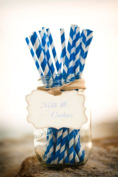 Can't get enough of these cute straws - they add so much! {Chic Sweets}