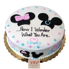 (2275) Mickey & Minnie Mouse Gender Reveal Cake Plus