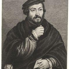 Portret van sir Thomas More, Lucas Vorsterman (I), after Hans Holbein, 1631 - Rijksmuseum