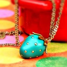 Make a cute strawberry necklace for summer! Full tutorial!