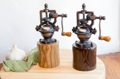 Handmade Peppermills and wooden gifts by Luke and Lei by WoodNLotsOfLove Gift For Lover, Lovers Gift, Salt And Pepper Grinders, Personalized Christmas Gifts, Wooden Gifts, Thanksgiving Gifts, Gifts For Him, Wedding Gifts, Herbs