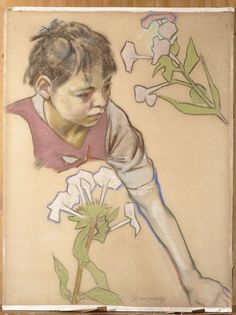 Głowa chłopca i kwiaty (Head of a Boy and Flowers), 1893 by Stanisław Wyspiański on Curiator, the world's biggest collaborative art collection. Drawing Prints, Art Nouveau Illustration, Illustration, Drawings, Digital Museum, Collaborative Art, Artist, Painting, Drawing Sketches