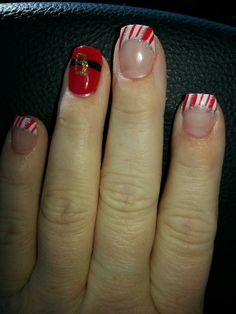 Santa & Peppermints!  Nails by Natale... Stacy & Co, Jacksonville, NC