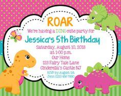 Girl dinosaur birthday party invitations set of 12 little girl dinosaur girl invitation personalized custom dinosaur birthday invitation print your own filmwisefo