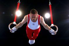 Scott Morgan consiguió el oro en aros. Los Juegos de la Commonwealth 2014, en imágenes, en Glasgow, Escocia.