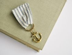 AHOY THERE - anchor medal brooch  ||  louloudo via Etsy