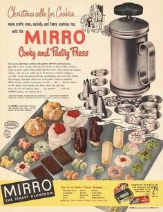Southern Cottage Cooking : Vintage Christmas Cheer: Mirro Cookie Press Recipe Booklet