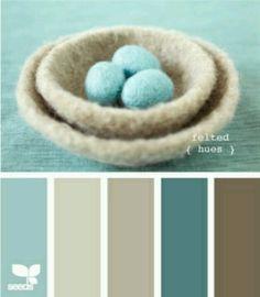 "Blues + Browns -- ""Felted Hues"" color palette from {design seeds}"