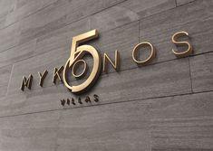 Logo Design for Mykonos 5 Hotel