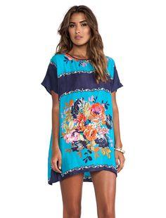 Tolani Tiffany Mini Dress in Turq