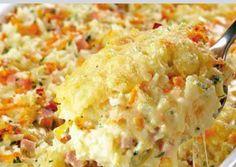 Arroz al horno con queso crema