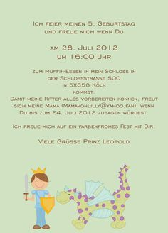 Einladung Kindergeburtstag Text Ausdrucken