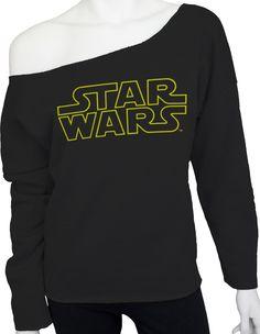 Star Wars Cut Off Sweatshirt: Star Wars Ladies Sweatshirt