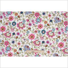 Pink/White Floral Cotton Voile Fabric by the Yard | Mood Fabrics