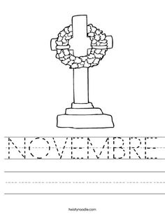 NOVEMBRE worksheet that you can customize and print for kids. Holiday Activities, Learning Activities, Kids Learning, Activities For Kids, Crafts For Kids, Teaching Ideas, Memorial Day Coloring Pages, Core French, Remembrance Day