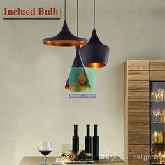 Wholesale Pendant Lights - Buy 2014 New AC110V 220-230V ABC Models Tom Dixon Beat Gold Mark India Lamp Droplight of French Countryside Pendant Lamps*3 $0.0 | DHgate