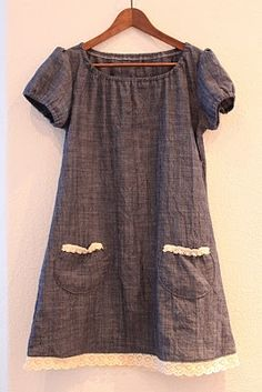 dress with pockets. now i know what i will do with lavender linen! Sewing Clothes, Diy Clothes, Clothes For Women, Casual Dresses, Casual Outfits, Vetement Fashion, Techniques Couture, Girl Outfits, Fashion Outfits