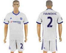 Chelsea #2 Ivanovic White Soccer Club Jersey
