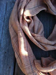100% hemp handwoven scarf