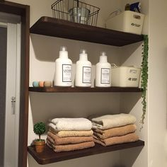 セリア/ナチュラル/カフェ風/タオル/タオル収納/無印良品…などのインテリア実例 - 2016-10-07 19:36:52   RoomClip(ルームクリップ) Cafe Style, Room Organization, Bathroom Medicine Cabinet, Towel, Cleaning, Interior Design, House Styles, Home Decor, Nest Design