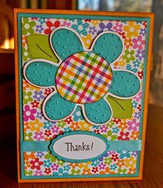 Cricut Crazy Scrapper: Flower thank you card (for BBTB2) plus a bonus Dis...