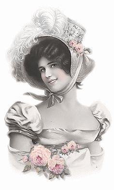 Shabby Vintage, Vintage Paper, Vintage Art, Victorian Women, Victorian Fashion, Vintage Colors, Vintage Stuff, Vintage Pictures, Vintage Images