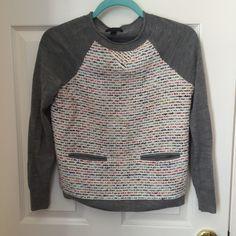 J.Crew boxy sweater xxs Wool sweater, worn only once! J. Crew Sweaters